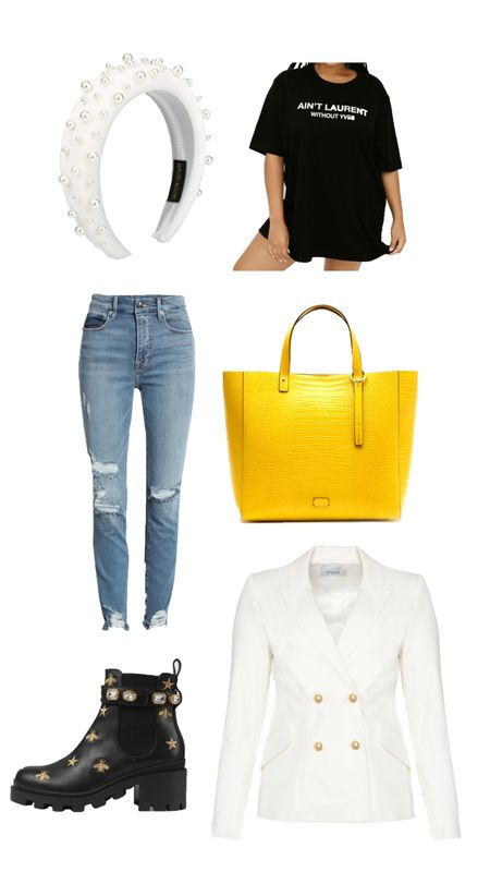 New blog post is up featuring this black and yellow plus white plus size look http://liketk.it/2Yf1l @liketoknow.it #liketkit #LTKcurves #LTKstyletip
