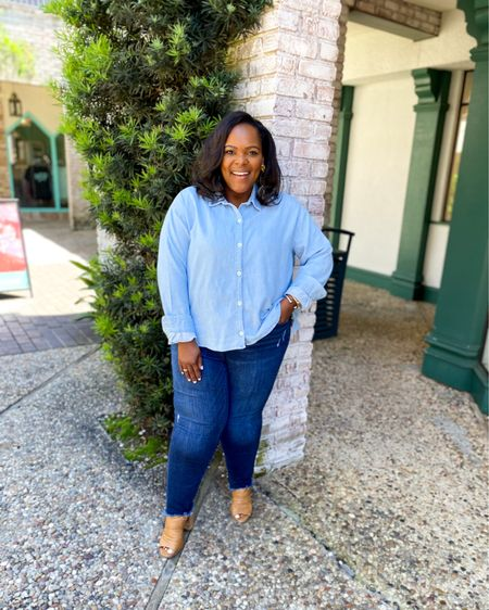 These chilly temps tonight are AMAZING!! Love this oversized chambray top from Old Navy! http://liketk.it/3gqNU #liketkit @liketoknow.it #LTKsalealert #LTKunder50 #LTKstyletip #ltkseasonal #competition ❤️🤍💙