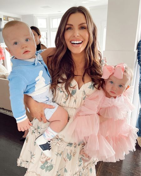 Sharing all our outfit details from Brooks & Charlotte's 1st Birthday Garden Party 🌷Coco and I went for all the frills - no ruffles or feminine flair was spared in either of our dresses🎀 Brooks, my dapper cutie, had his Springtime preppy vibe on point👌🏻 P.s. The fit on my @revolve dress was perfection #likeaglove @liketoknow.it #liketkit #LTKSpringSale #LTKbaby #LTKfamily Screenshot this pic to get shoppable product details with the LIKEtoKNOW.it shopping app  http://liketk.it/3cnGA