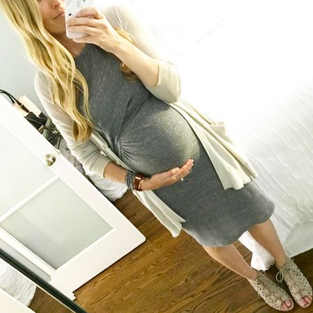 Looks like this non-maternity dress is going to be on serious repeat the rest of my pregnancy! ☺️💕 And if you haven't bought these shoes yet, WHY NOT??! They are so comfortable and I wear them at least 2 times a week! Details here or in profile -> http://liketk.it/2rb5z #liketkit @liketoknow.it