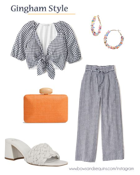 Love these gingham separates that you can wear as a matching set or individually!   #LTKunder100 #LTKstyletip
