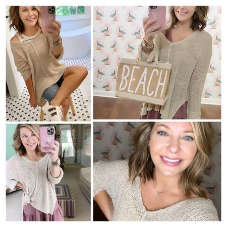 ❤️❤️❤️This slouchy sweater is a huge winner for me!!! (Worn slightly off the shoulder if you want or not!) Use code: Brooke20   Sweater, wearing a small, comes in other colors too  Dress, small, very soft  Small BEACH Jute tote, other prints available too  Striped tank  Leopard print sneakers, size up .5  Do you love these outfits? 😍  Xo, Brooke  #LTKshoecrush #LTKstyletip #LTKsalealert