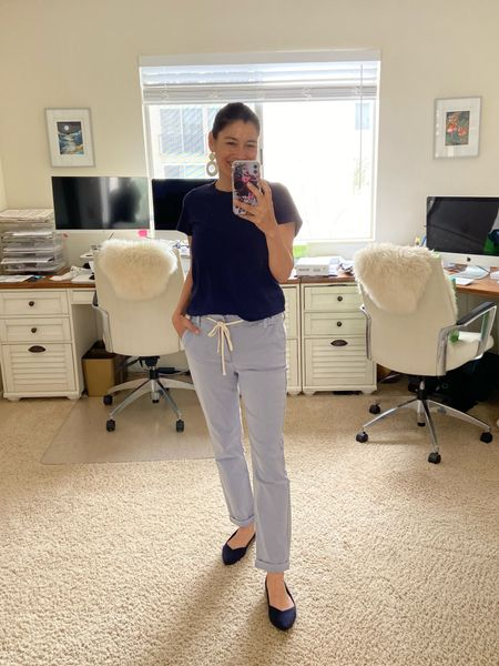 Spring outfit, lounge pants and Madewell Tee. Casual outfit, super comfortable.   #LTKSeasonal #LTKstyletip #LTKunder50