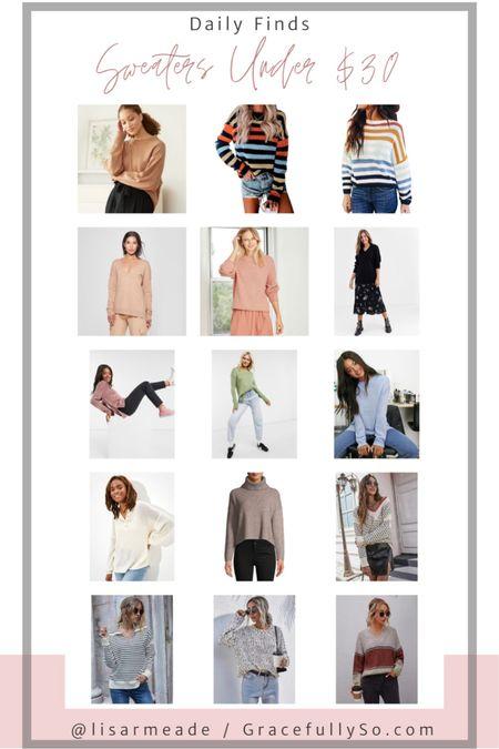 Sweaters Under $30  http://liketk.it/2Yqd8 #liketkit @liketoknow.it  #sweater #sweaterweather #fallstyle #fallfashion #coldweatherstyle #turtleneck #crewneck #winterstyle #cowlneck #shein #amazonprime #amazonfashion #targetstyle