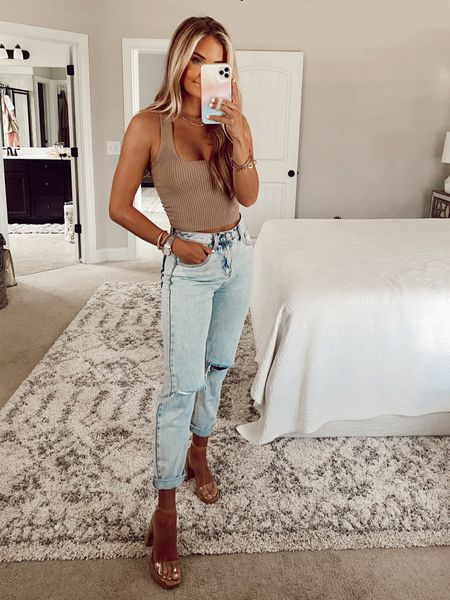 Shop priceless try on haul with new fall arrivals and summer outfits perfect for layering, crop tank tops, knit sweater tanks, distressed jeans from VICI dolls, Steve Madden clear nude heels, Michele watch, women's apparel, Kendra Scott earrings, and designer dupe, designer inspired jewelry! Use code PREFALL   #LTKstyletip #LTKshoecrush #LTKsalealert