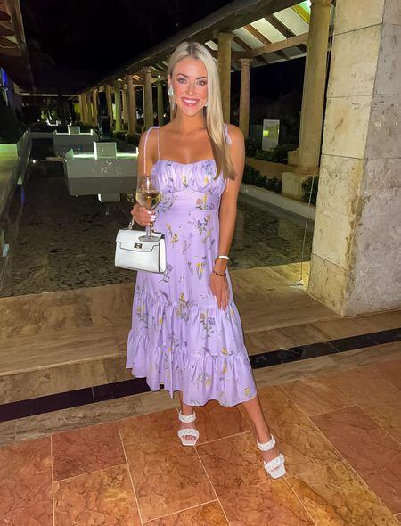 Vacation sundress  True to size  Adjustable straps  Purple midi dress  Showpo   #LTKstyletip #LTKunder50 #LTKunder100