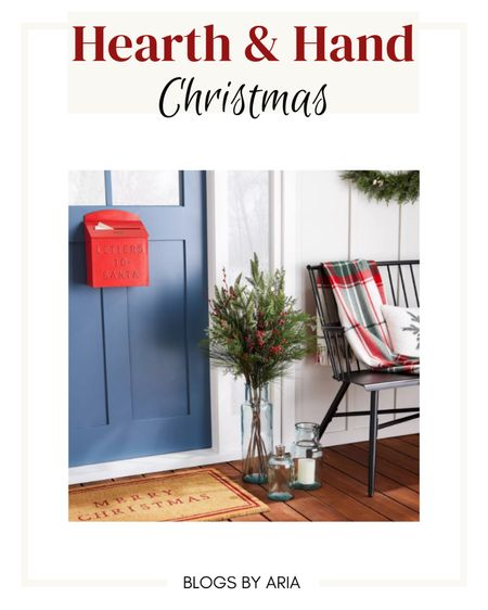 Hearth and Hand Christmas entryway decor holiday decor Christmas decor Target finds   #LTKhome #LTKHoliday