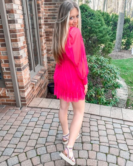the perfect spring dress! lightweight and the most flattering color 💓 (dress size small and steve madden platforms a size 8!) steve madden platforms are on #SALE from famous footwear! grab the cutest sandals while they last! #summerfashion #graduation #springdress #beachvacation #Weddingguestdresses  #Spring #Summer #LTKSALE http://liketk.it/3ccnC #liketkit @liketoknow.it