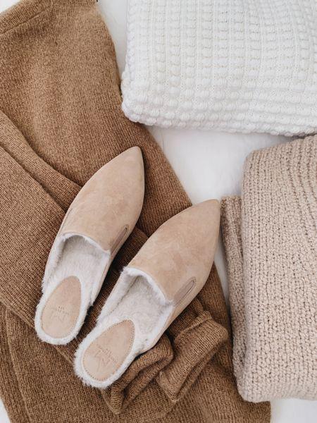 Cozy fall textures. Love these mules- on sale! TTS.     #LTKsalealert #LTKSeasonal #LTKshoecrush