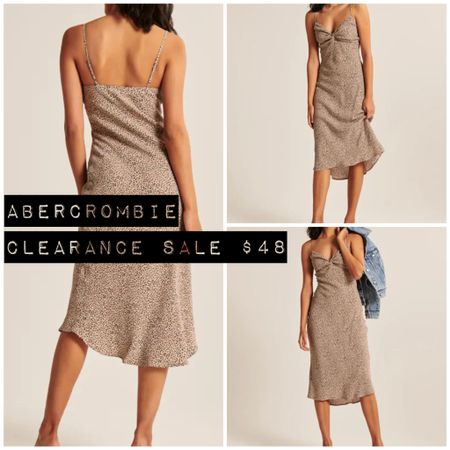 Abercrombie & Fitch ONE DAY CLEARANCE SALE! Snag this breezy spring knot slip midi for just $48!  Follow me on the LIKEtoKNOW.it shopping app to get the product details for this look and others!   http://liketk.it/3dthH #liketkit @liketoknow.it  #cheeryandcharming #LTKunder50 #LTKbeauty #LTKfit #style #fashion #abercrombie #abercrombieandfitch #clearance #sale #salealert