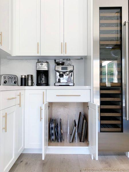 Organize your pans. || #organization #divider #panorganization #storage #kitchen #kitchenorganization  #LTKhome