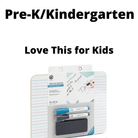 Easy, $5.99 product I am so glad we have. It's blank on one side, lined on the other, which is perfect for practicing handwriting.  We do drawing, writing, using it in place of a piece of paper.  It's coming in handy during online classes and a great thing to have for pre-k/kindergarten-age kids. . . . . #backtoschool #homeschool #virtualschool #backatschool #onlinelearning #toddleractivity #prekathome #preschool #prek #kindergarten   #LTKkids #LTKfamily #LTKhome