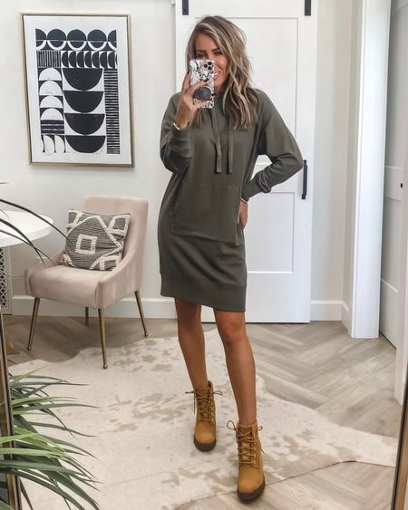 How to wear/style: My favorite statement boots for fall Theses heeled Tims I couldn't decide between two styles..took a poll on ig stories and these won by only 1% ..what…flay are both that fabulous runs tts Nordstrom boots Dress oversized Sz small     #LTKstyletip #LTKunder100 #LTKshoecrush