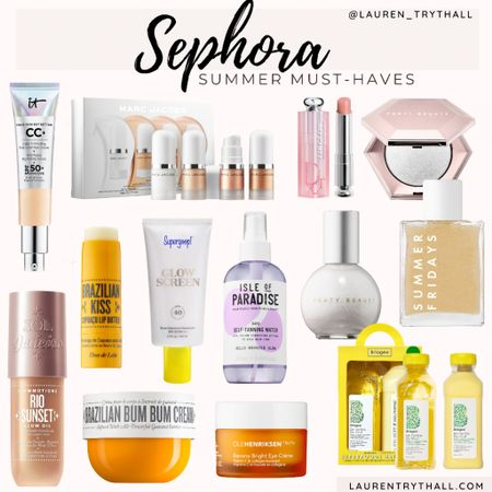 Sephora beauty products you need for summer! These products give the perfect summer glow!   #LTKbeauty #LTKunder50 #LTKSeasonal