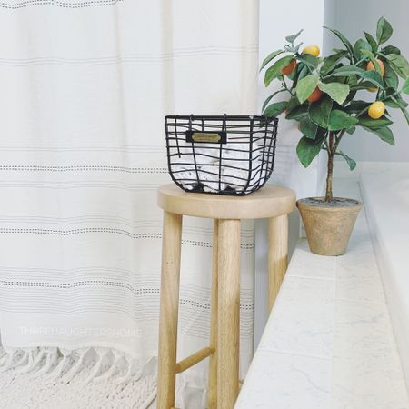 Time for a little shower refresh! Here's a sneak peak ;) I was eying this stool for months and decided it finally needed to come home with me. http://liketk.it/3i9BR #liketkit @liketoknow.it #LTKhome @liketoknow.it.home