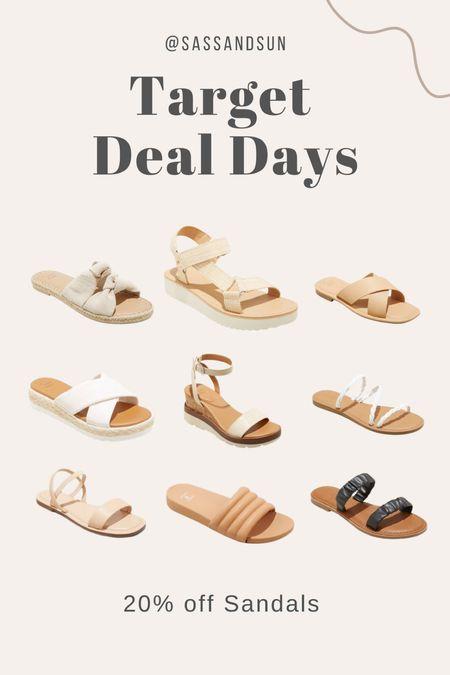 Target Deal Days 20% Sandals  #LTKunder50 #LTKsalealert #LTKshoecrush