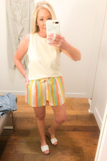 Striped shorts 40% off  http://liketk.it/3eVa1 #liketkit @liketoknow.it #LTKsalealert #LTKunder50
