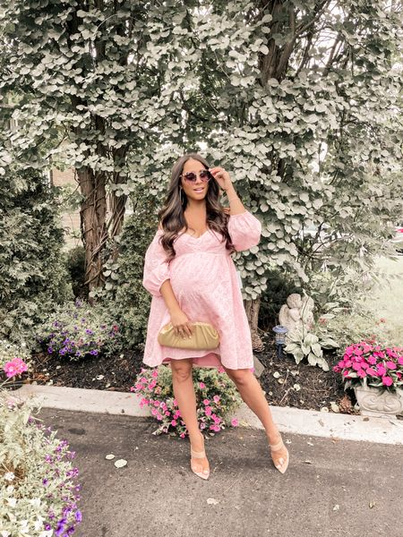Fave look! Perfect dress to rock your baby bump! #weddingguestdress #babyshower #maternity   #LTKwedding #LTKunder100 #LTKbump