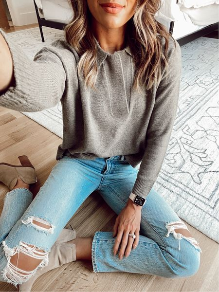 size xs in sweater / 25 in jeans