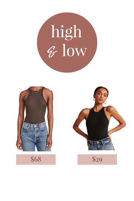 High neck bodysuit for spring and summer   #LTKunder50 #LTKSeasonal #LTKunder100