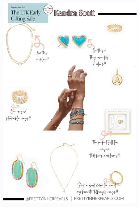 LTK Early Gifting Sale starts today!! This is an app exclusive sale. Kendra Scott earrings, bracelets, rings, and more that would make great gift 🎁 ideas for your mom, sister, and bestie.   #LTKHoliday #LTKSale #LTKGiftGuide