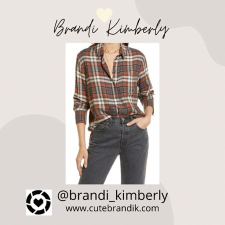 Love these brown colors for this plaid shirt! Great for back to school   #LTKSeasonal #LTKstyletip #LTKbacktoschool