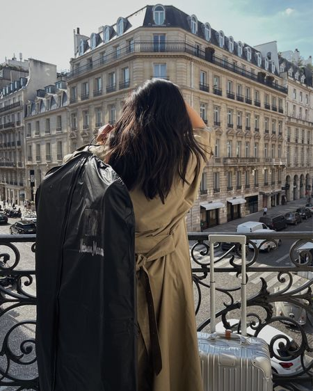Brought NM to Paris with my new Rimowa Cabin luggage.