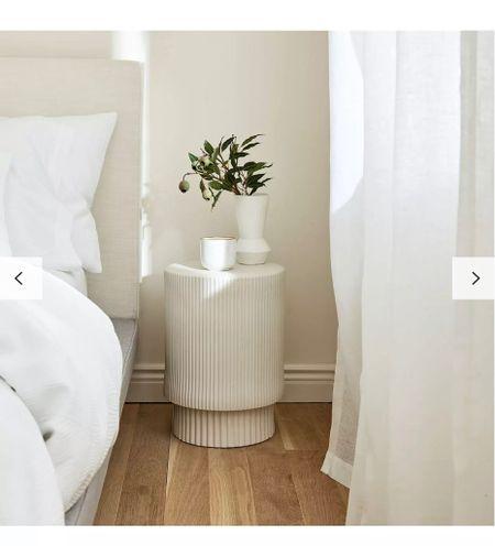 Fluted table - side table - neutral aesthetic - side desk - coffee table - marble table - neutral home decor - lounge inspo - bedroom inspo - west elm -   #LTKstyletip #LTKhome #LTKeurope