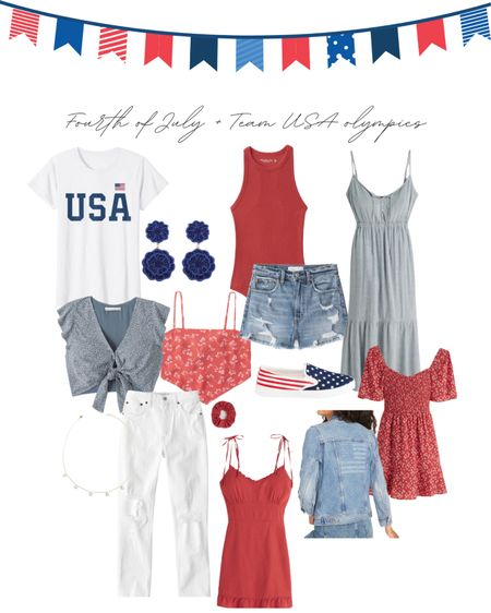 Fourth of July outfits or to cheer on team USA in the olympics! Amazon, altard state, old navy and Abercrombie http://liketk.it/3iKYs / #liketkit @liketoknow.it #LTKbeauty #LTKunder50 #LTKtravel