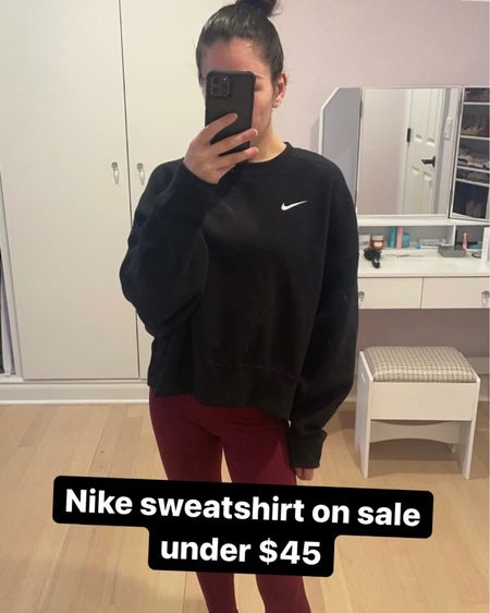 My Nike crew neck fleece is also part of the Nordstrom anniversary sale. Under $50, comes in a few colors and in plus size.   #LTKcurves #LTKunder50 #LTKfit