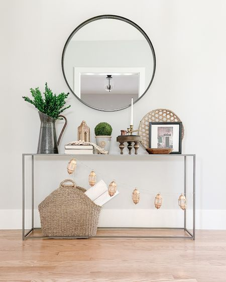 http://liketk.it/3cvxw #liketkit @liketoknow.it @liketoknow.it.home  console table, entry table, mirror, basket, Eid, Eid decor, lantern, Moroccan lantern, string lights, Moroccan lights  Shop your screenshot of this pic with the LIKEtoKNOW.it shopping app   #LTKhome