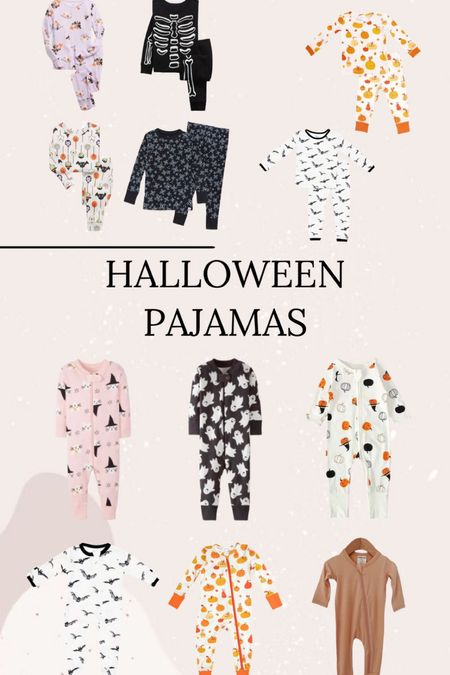 Halloween pajamas // matching sets // kids pajamas // zip sleeper // spearmint love // kyte baby // target // gap // Hanna Anderson // Amazon finds   #LTKunder50 #LTKkids #LTKSeasonal
