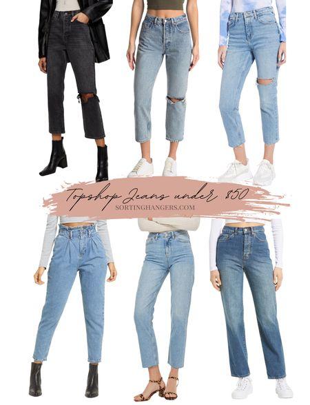 Topshop Jeans under $50 | Nordstrom Anniversary sale picks!   #LTKstyletip #LTKsalealert #LTKunder50