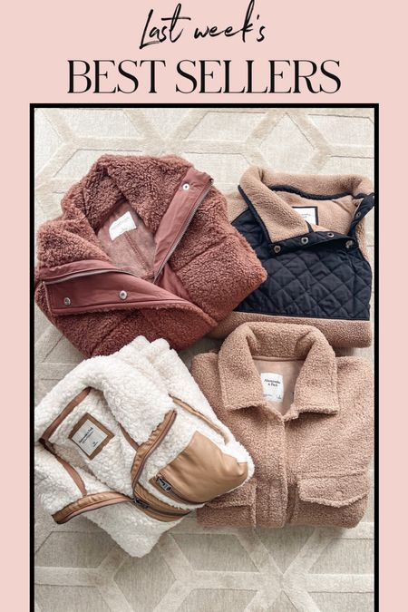 These sherpa jackets and pullovers have been a best seller this week! Today is the last day to get them on SALE! #falloutfits #giftsforher #sherpa #sherpacoat #sherpajacket #shacket #abercrombie   #LTKGiftGuide #LTKunder100 #LTKsalealert