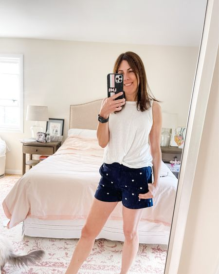 💙🤍🤍💙 Loving this #slubtwisttank by #JCrew - paired it with the #stretchchinoshort. For size reference I'm wearing an xs in the top and 0 in the shorts.  #sojcrew #lovejcrew #lynnmailey #peacelovestyle   http://liketk.it/3hI2J #liketkit @liketoknow.it #LTKunder50  💙 Shop my daily looks by following me on the LIKEtoKNOW.it shopping app or click on the link in my bio.
