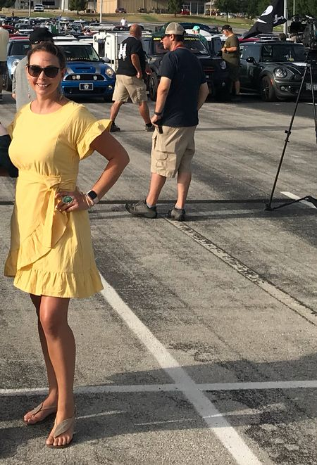 Kicking off Mini Takes the States rally in Dallas Texas in my new yellow #dress http://liketk.it/2wEhG #liketkit  @liketoknow.it Shop your screenshot of this pic with the LIKEtoKNOW.it app