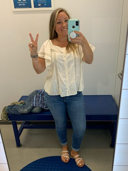 This top has Free People vibes and is $22 in your cart ✌️  Boho Style : Blouse : Women's Top    #LTKunder50 #LTKstyletip #LTKsalealert