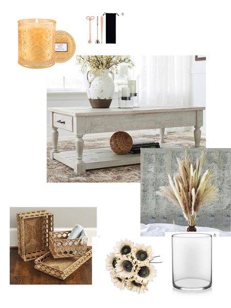 Fall is in the air! Well….at least Fall design ideas are in the air! I'm a planner…always. I found a glorious basket from Ballard Design that took on a design life of its own and inspired a fall themed cocktail table-scape!   #LTKhome