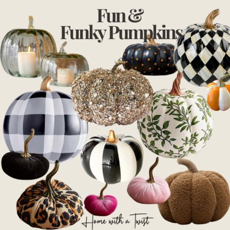 Spice up your pumpkin collection with these funky picks.   #LTKSeasonal #LTKHoliday #LTKhome