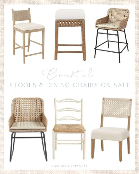 If you're hosting for the holidays and are looking for stools or dining room chairs, Ballard Designs is currently having a sale on both! Loving these ones with a coastal vibe! - rattan dining chairs, dining chairs on sale, side chairs, rattan stools, rattan counter stools, rattan bar stools, woven stools, woven dining chairs, woven dining room chairs, neutral dining chairs, neutral stools, upholstered stools, white dining chairs, home decor, coastal decor, beach house decor, beach house furniture, beach decor, beach style, coastal home, coastal home decor, coastal decorating, coastal interiors, coastal house decor, beach style, neutral home decor, neutral home, natural home decor, coastal furniture, dining room furniture, kitchen stools   #LTKfamily #LTKhome #LTKsalealert