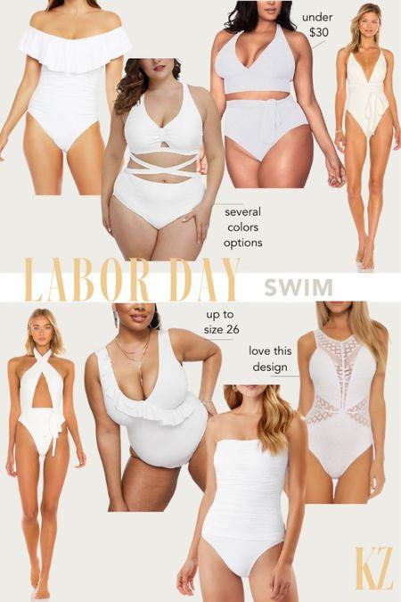 Labor Day Swimsuit Faves - White Swimsuits   #LTKswim #LTKstyletip #LTKSeasonal