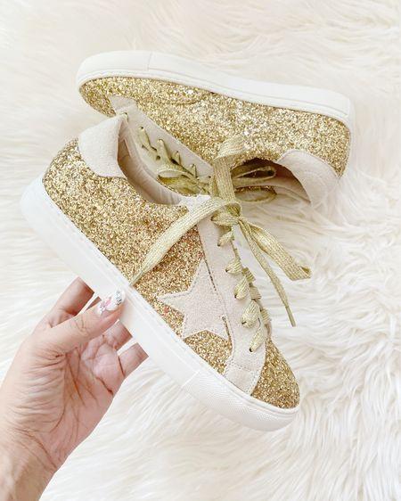 Amazon finds glitter star dupe sneakers http://liketk.it/3fXbH #liketkit @liketoknow.it #LTKshoecrush #LTKunder50 #LTKstyletip