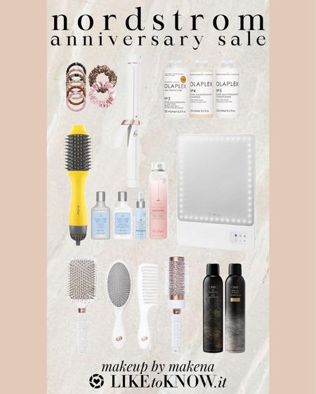 Save on these beauty products – including this T3 Micro curling iron, Oribe and Olaplex set, and makeup mirror – during the Nordstrom Anniversary Sale now through August 8. #nsale   #LTKunder100 #LTKsalealert #LTKbeauty