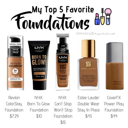 My Top 5 Favorite Foundations    Follow me on the LIKEtoKNOW.it shopping app to get the product details for this look and others    http://liketk.it/2KxCN #liketkit @liketoknow.it