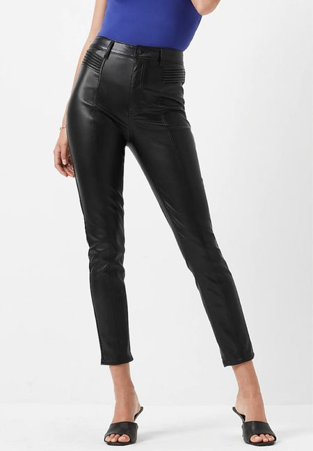 Super high waisted faux leather moto pants   #LTKSeasonal #LTKunder100 #LTKworkwear