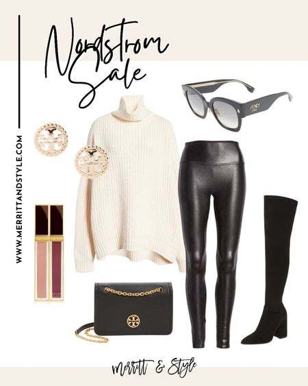 Free people sweater Nordstrom sale over the knee boots outfit ideas spanx outfit ideas   #LTKsalealert #LTKstyletip #LTKunder50