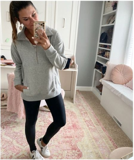 Casual fall outfit- Everything is true to size. Wearing a small in each piece #justpostedblog   Amazon  Leggings Fall   #LTKstyletip #LTKSeasonal #LTKfit