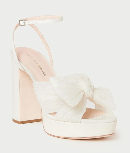 Calling all brides! The perfect platform now bridal heel 🤍 Platforms make a heel so comfortable, as does the block heel on this cute style. Subscribe to the newsletter for 15% off! (P.S. They come in gold too, I just bought!) #weddingshoes #ltkbridal #ltkshoecrush #ltkwedding