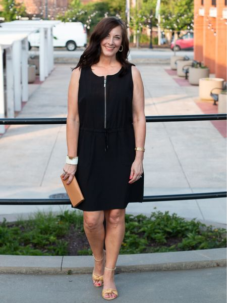 The perfect lightweight dress for summer from Chico's! The classic black with drawstring waist and zipper neck can go to casual for a day of sightseeing to an evening out just by changing your shoe! http://liketk.it/3hvF3 #liketkit @liketoknow.it.family You can instantly shop all of my looks by following me on the LIKEtoKNOW.it shopping app @liketoknow.it #LTKstyletip #LTKtravel