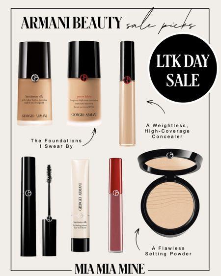 LTK Day sale picks - take 25% off at Armani Beauty with code LTKGLOW  #LTKsalealert #LTKbeauty #LTKDay